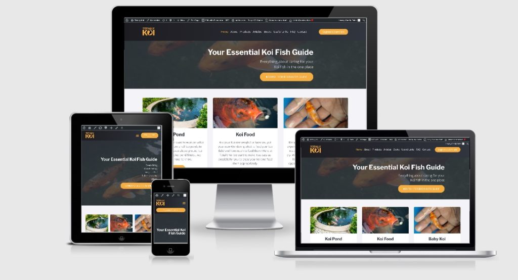 Focus Web Design - Our Work - Totally Koi Website